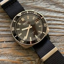 Seiko pre-owned Automatic 38mm Black Mineral Glass