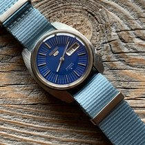 Seiko pre-owned Automatic 37mm Blue Mineral Glass