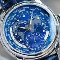 Frederique Constant Manufacture Worldtimer Acciaio 42mm Blu Arabi Italia, Asolo