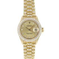 Rolex Желтое золото Автоподзавод Золотой 26mm подержанные Lady-Datejust