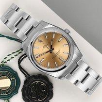 Rolex Oyster Perpetual 34 nouveau 2020 Remontage automatique Montre avec coffret d'origine et papiers d'origine 114200