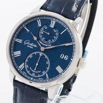 Glashütte Original Senator Chronometer Weißgold 42mm Blau Römisch Deutschland, Weißenhorn