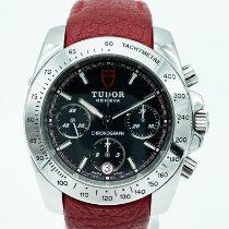 Tudor Sport Chronograph Acero 41mm Negro Sin cifras