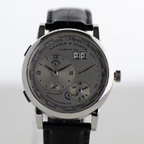 A. Lange & Söhne pre-owned Manual winding 41.9mm Silver (solid) Sapphire crystal 3 ATM