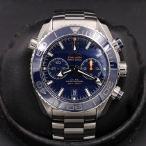 Omega Seamaster Planet Ocean Chronograph pre-owned 45mm Blue Chronograph Steel