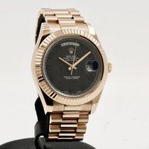Rolex Day-Date II Růžové zlato 41mm Černá Arabské