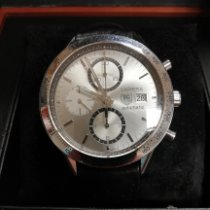 TAG Heuer Carrera Calibre 16 pre-owned Silver Chronograph Date Leather