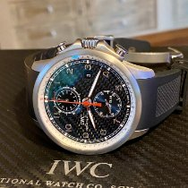 IWC Portuguese Yacht Club Chronograph pre-owned 45.7mm Black Chronograph Date Rubber