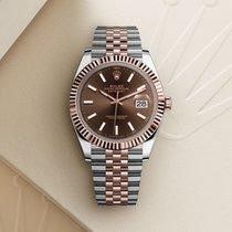 Rolex Datejust II Gold/Steel 41mm Brown No numerals UAE, Dubai