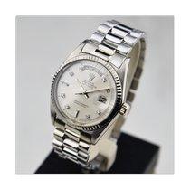 Rolex Day-Date 36 Witgoud 36mm Zilver Geen cijfers Nederland, Amsterdam