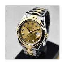 Rolex Datejust II Золото/Cталь 41mm Цвета шампань Без цифр