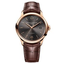 Baume & Mercier Rose gold Automatic Grey Arabic numerals 38.8mm new Clifton