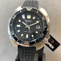 Seiko Prospex gebraucht 45mm Schwarz Datum Silikon