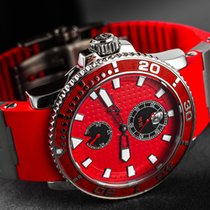 Ulysse Nardin Maxi Marine Diver Steel 43mm Red No numerals