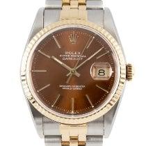 Rolex Datejust Acero y oro 36mm Marrón