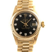 Rolex Lady-Datejust Oro amarillo 26mm Negro
