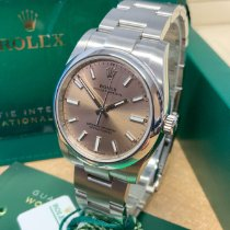 Rolex Oyster Perpetual 34 Steel 34mm Pink No numerals United Kingdom, Wilmslow