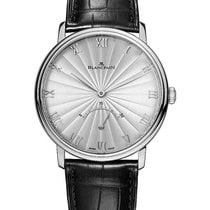 Blancpain White gold Automatic Silver Roman numerals 40mm pre-owned Villeret Ultra-Slim