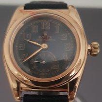 Rolex Bubble Back Oro rosa 33mm Oro Arabi Italia, NAPOLI