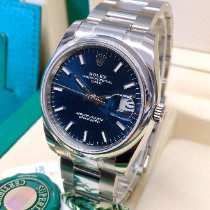 Rolex Oyster Perpetual Date Steel 34mm Blue No numerals United Kingdom, Wilmslow