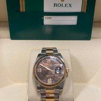 Rolex Datejust Oro/Acciaio 36mm Marrone Italia, Caserta