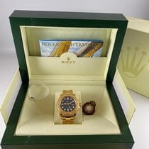 Rolex Yellow gold Automatic Blue new Yacht-Master 40