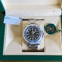Rolex Submariner (No Date) 114060 Sehr gut Silber 40mm Automatik