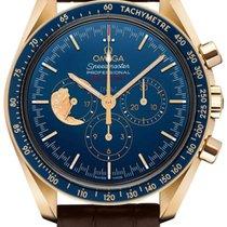 Omega Žluté zlato Ruční natahování Modrá 42mm použité Speedmaster Professional Moonwatch