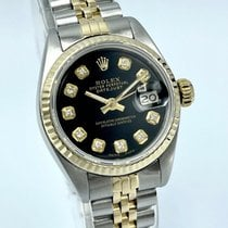 Rolex Lady-Datejust Guld/Stål 26mm Sort Ingen tal