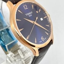 Tissot Tradition Gold/Steel 42mm Blue Arabic numerals United States of America, New York, NY
