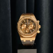 Audemars Piguet Royal Oak Chronograph Roségold 41mm Braun Keine Ziffern