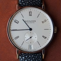 NOMOS Tangente 38 Datum Steel 37.5mm Silver Arabic numerals United States of America, North Carolina, Charlotte