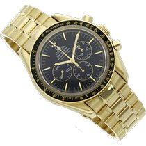 Omega Speedmaster Professional Moonwatch Yellow gold 42mm Black No numerals