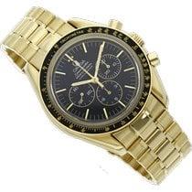 Omega Speedmaster Professional Moonwatch Желтое золото 42mm Черный Без цифр