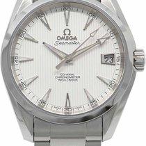 Omega Seamaster Aqua Terra occasion 38.5mm Blanc Date Acier