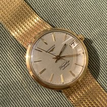 Longines Yellow gold 35mm Automatic Longines 3418 flagship 18k cal 345 bracelet pre-owned