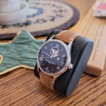Frederique Constant Manufacture Heart Beat pre-owned 40mm Blue Leather