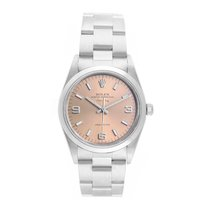 Rolex Air King Precision Steel 34mm Pink No numerals