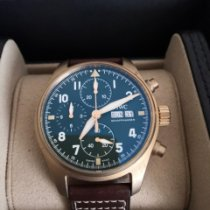 IWC Bronze Automatic Green Arabic numerals 41mm pre-owned Pilot Spitfire Chronograph