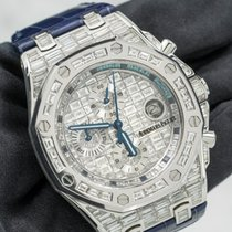 Audemars Piguet Royal Oak Offshore Chronograph Hvitt gull 42 mmmm Sølv Ingen tall