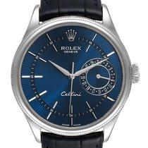 Rolex Cellini Date подержанные 39mm Синий Дата Кожа аллигатора