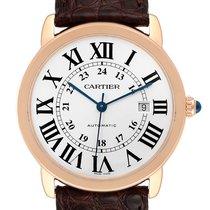Cartier Ronde Solo de Cartier pre-owned 42mm Silver Date Leather