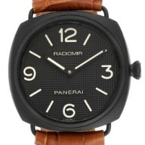 Panerai Cuerda manual Negro Arábigos 45mm usados Radiomir Black Seal