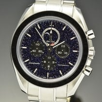 Omega Speedmaster Professional Moonwatch Moonphase pre-owned 44.25mm Black Moon phase Chronograph Steel
