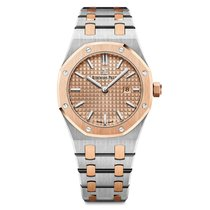 Audemars Piguet Damenuhr Royal Oak Lady 33mm Quarz neu Uhr mit Original-Box und Original-Papieren 2016