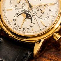 Patek Philippe Perpetual Calendar Chronograph Gelbgold 36mm Silber Keine Ziffern Deutschland, München