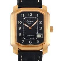 Glashütte Original Senator Karrée pre-owned 45mm Black Date Leather