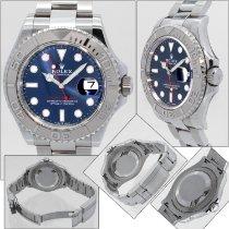 Rolex Yacht-Master 40 Platinum 40mm Blue No numerals