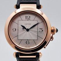 Cartier Pasha Roségold 42mm Silber Arabisch