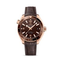 Omega Rose gold Automatic Brown 39.5mm new Seamaster Planet Ocean